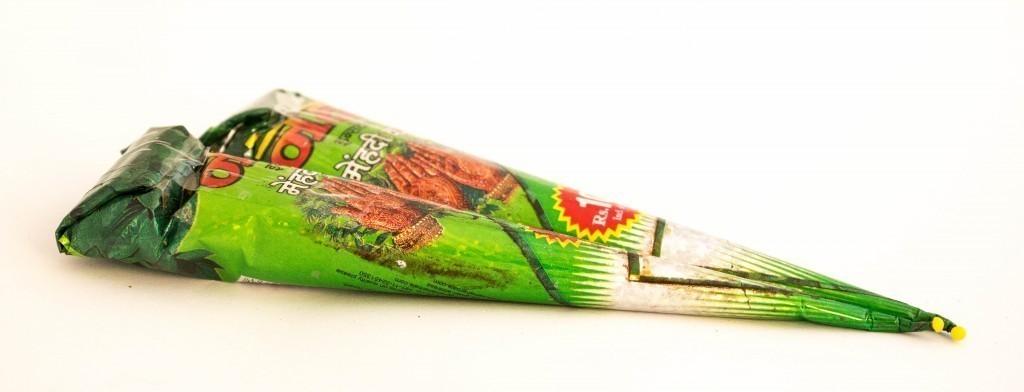 Хна для мехенди в конусах «Цветная с глитером»
